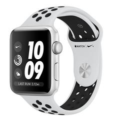 Умные часы APPLE Watch Series 3 Nike+ 38mm Silver Aluminium Sports Strap Platinum-Black MQKX2RU/A
