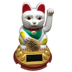 Новогодний сувенир Espada Счастливый Кот E-10Whc Gold-White