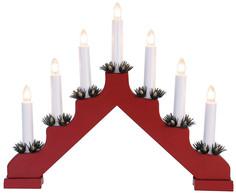 Новогодний сувенир Neon-Night Новогодняя горка Red 7 свечек LED Warm White 501-082