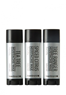 Воск для укладки Beardbrand Набор для усов и бороды  Silver Label Mustache Wax 3 Pack