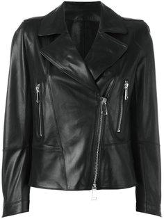 байкерская куртка с серебристыми молниями Sylvie Schimmel