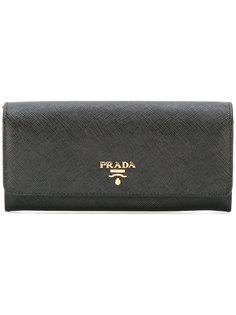 кошелек с бляшкой-логотипом Prada