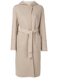 пальто длины миди с капюшоном Loro Piana