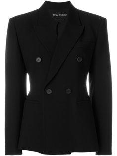 пиджак узкого кроя со структурными плечами Tom Ford