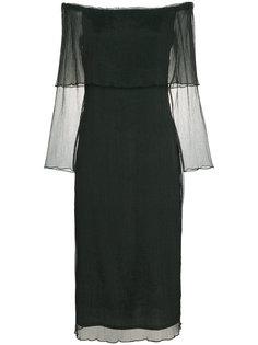 фактурное платье с открытыми плечами Beaufille