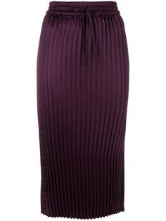 плиссированная юбка миди DKNY