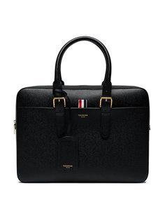 чемодан из зернистой кожи Thom Browne