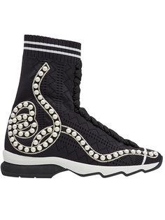 кроссовки с перфорацией Fendi