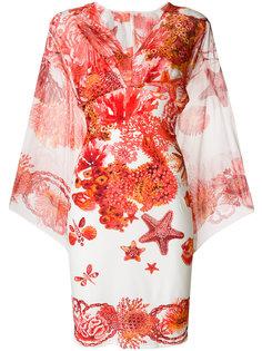 платье с принтом коралловых рифов Roberto Cavalli