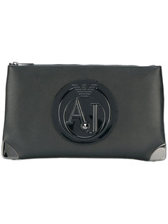 клатч на молнии с логотипом  Armani Jeans
