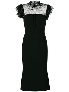 приталенное платье с прозрачной панелью Dolce & Gabbana