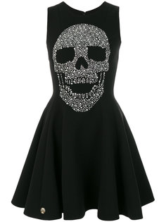 платье  с принтом черепа Philipp Plein