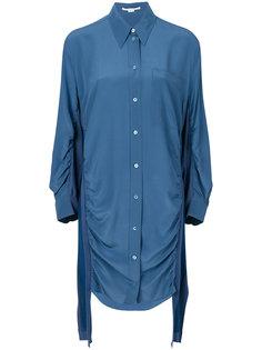платье-рубашка со сборкой по бокам Stella McCartney