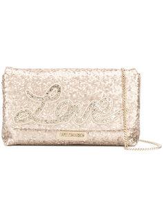 сумка на плечо с пайетками Love Love Moschino