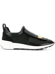 кроссовки с накладной панелью Sergio Rossi