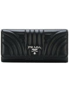 стеганый континентальный кошелек Prada