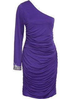 Платье на одно плечо (лиловый) Bonprix