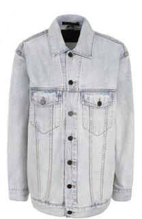 Удлиненная джинсовая куртка прямого кроя Denim X Alexander Wang