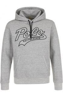 Хлопковое худи с логотипом бренда Polo Ralph Lauren