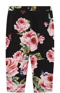 Хлопковые брюки с принтом Dolce & Gabbana