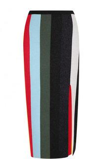 Юбка-миди в полоску с разрезом Diane Von Furstenberg