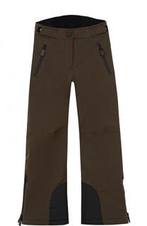 Утепленные брюки с эластичной вставкой на поясе Moncler Enfant
