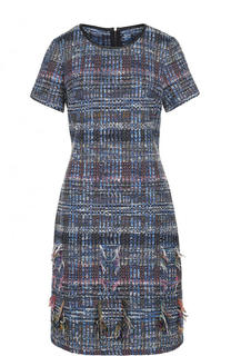 Приталенное буклированное платье-миди St. John
