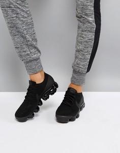 Черные кроссовки Nike Running Vapormax Flyknit - Черный