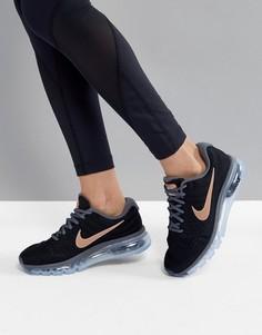 Кроссовки черного цвета и цвета розового золота Nike Running Air Max 2017 - Черный
