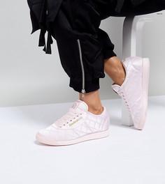 Стеганые атласные кроссовки ASOS WHITE x Reebok Princess - Розовый