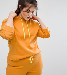 Укороченный худи горчичного цвета South Beach Plus - Желтый