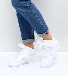 Высокие белые кроссовки Reebok Classic - Белый