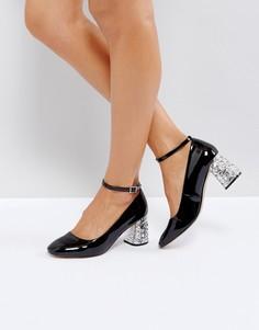 Туфли на каблуке средней высоты с камнями ASOS SNOWFLAKE - Черный