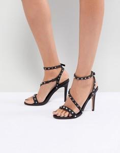 Босоножки на каблуке с заклепками ASOS HACKER - Черный