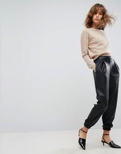 Спортивные штаны с заниженной талией ASOS - Черный