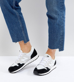Бело-черные замшевые кроссовки колор блок New Balance 520 - Белый