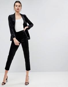 Бархатные брюки под смокинг ASOS Premium - Черный