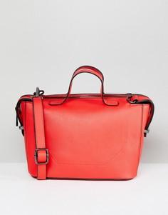 Маленькая структурированная сумка-боулер ASOS - Красный