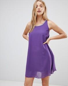 Платье с отделкой QED London - Фиолетовый