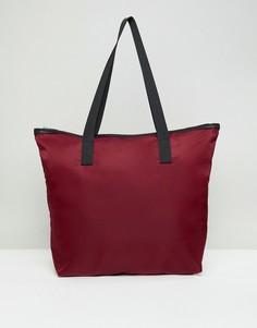 Повседневная сумка для покупок на молнии ASOS - Красный
