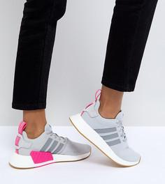 Женские серые кроссовки adidas Originals NMD R2 - Черный