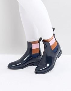 Резиновые сапоги по щиколотку Tommy Jeans - Черный