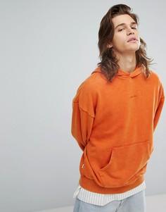 Оверсайз-худи с маленьким логотипом на груди Fairplay - Оранжевый