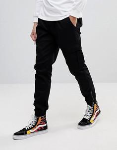 Облегающие спортивные брюки-карго Fairplay - Черный