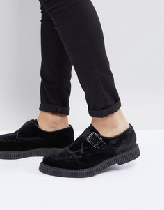 Черные бархатные монки ASOS - Черный