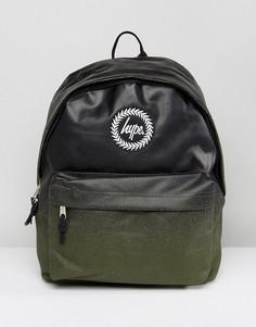 Черный рюкзак в крапинку с эффектом выцветания Hype - Черный