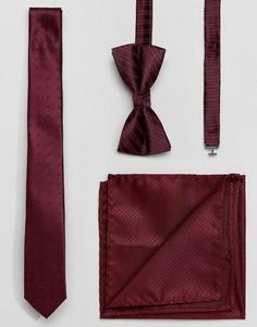 Подарочный набор с галстуком, галстуком-бабочкой и платком Jack & Jones - Красный