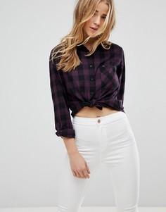 Свободная рубашка в клетку Lee - Фиолетовый