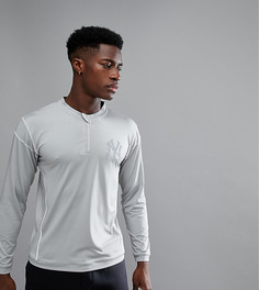 Лонгслив с молнией Majestic Sport New York Yankees - Серый