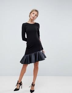 Платье мини из полиуретана ASOS - Черный